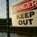 pollution keep out sign