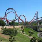 Rollercoaster dragon khan universal port aventura spain