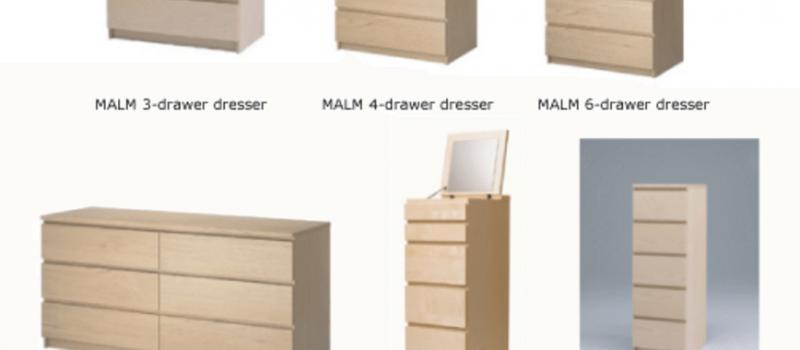 Warning recalled ikea dressers can tip forward crush for Ikea pittsburgh pennsylvanie